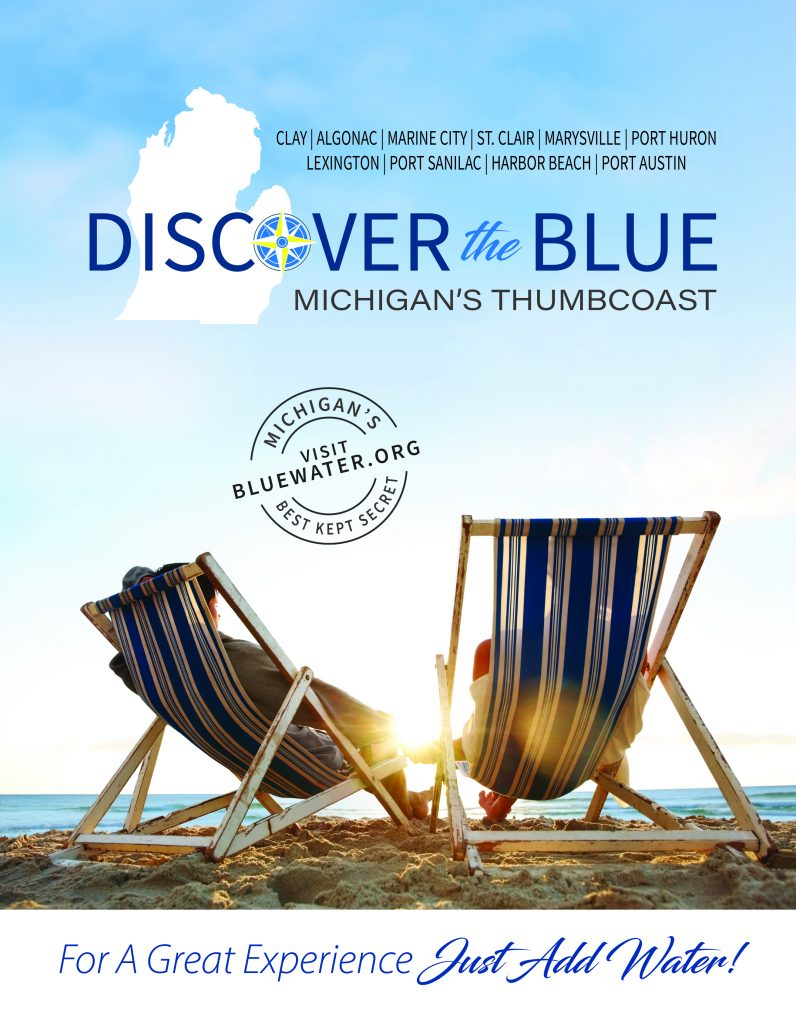 Discover the Blue Magazine Cover, Michigan Lake Huron Beach Chairs
